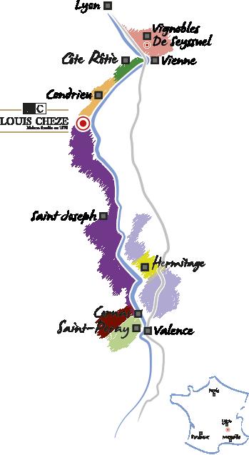 Carte Domaine Chèze